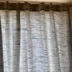 Light Filtering Striation Herringbone Curtain